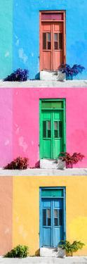 ¡Viva Mexico! Panoramic Collection - Tree Colorful Doors VIII by Philippe Hugonnard