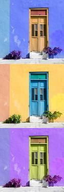 ¡Viva Mexico! Panoramic Collection - Tree Colorful Doors XI by Philippe Hugonnard