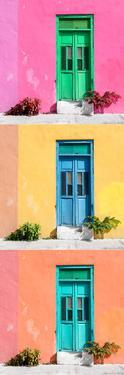 ¡Viva Mexico! Panoramic Collection - Tree Colorful Doors XII by Philippe Hugonnard