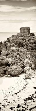 ¡Viva Mexico! Panoramic Collection - Tulum Ruins along Caribbean Coastline II by Philippe Hugonnard