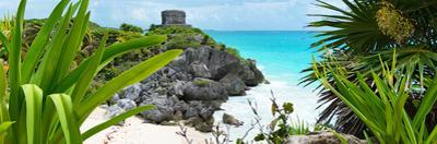 ¡Viva Mexico! Panoramic Collection - Tulum Ruins along Caribbean Coastline V by Philippe Hugonnard