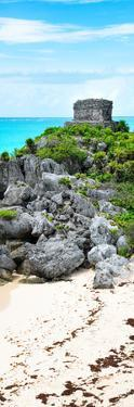 ¡Viva Mexico! Panoramic Collection - Tulum Ruins along Caribbean Coastline by Philippe Hugonnard