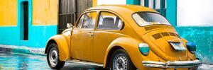 ¡Viva Mexico! Panoramic Collection - VW Beetle and Orange Wall by Philippe Hugonnard
