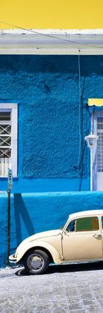 ¡Viva Mexico! Panoramic Collection - VW Beetle Car and Blue Wall by Philippe Hugonnard