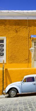 ¡Viva Mexico! Panoramic Collection - VW Beetle Car and Orange Wall by Philippe Hugonnard