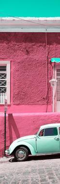 ¡Viva Mexico! Panoramic Collection - VW Beetle Car and Pink Wall by Philippe Hugonnard