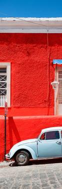 ¡Viva Mexico! Panoramic Collection - VW Beetle Car and Red Wall by Philippe Hugonnard