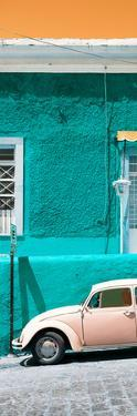 ¡Viva Mexico! Panoramic Collection - VW Beetle Car and Turquoise Wall by Philippe Hugonnard