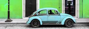 ¡Viva Mexico! Panoramic Collection - VW Beetle Car - Green & Powder Blue by Philippe Hugonnard