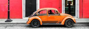 ¡Viva Mexico! Panoramic Collection - VW Beetle Car - Red & Orange by Philippe Hugonnard