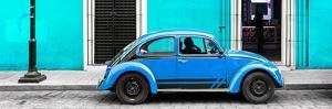 ¡Viva Mexico! Panoramic Collection - VW Beetle Car - Turquoise & Blue by Philippe Hugonnard