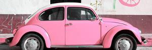 ¡Viva Mexico! Panoramic Collection - VW Beetle Light Pink by Philippe Hugonnard