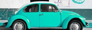 ¡Viva Mexico! Panoramic Collection - VW Beetle Turquoise by Philippe Hugonnard