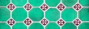 ¡Viva Mexico! Panoramic Collection - Wall of Green Mosaics by Philippe Hugonnard