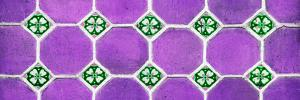 ¡Viva Mexico! Panoramic Collection - Wall of Purple Mosaics by Philippe Hugonnard