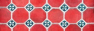 ¡Viva Mexico! Panoramic Collection - Wall of Red Mosaics by Philippe Hugonnard
