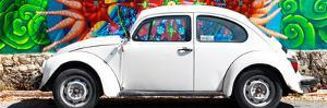 ¡Viva Mexico! Panoramic Collection - White VW Beetle Car in Cancun by Philippe Hugonnard