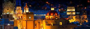 ¡Viva Mexico! Panoramic Collection - Yellow Church by Night II - Guanajuato by Philippe Hugonnard