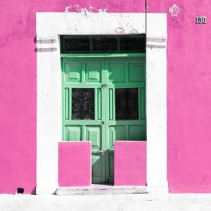 """¡Viva Mexico! Square Collection - """"130 Street"""" Pink Wall by Philippe Hugonnard"""