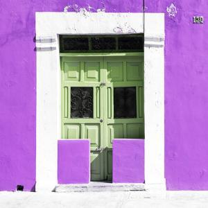 """¡Viva Mexico! Square Collection - """"130 Street"""" Plum Wall by Philippe Hugonnard"""