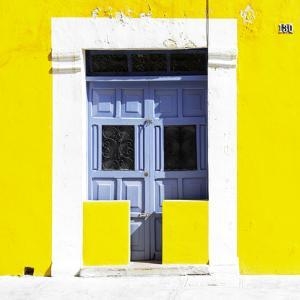 """¡Viva Mexico! Square Collection - """"130 Street"""" Yellow Wall by Philippe Hugonnard"""