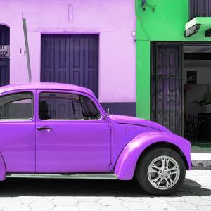 "¡Viva Mexico! Square Collection - ""15 Street"" Purple VW Beetle Car by Philippe Hugonnard"