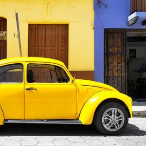 "¡Viva Mexico! Square Collection - ""15 Street"" Yellow VW Beetle Car by Philippe Hugonnard"