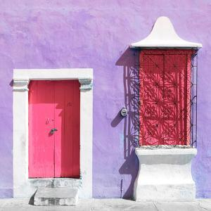 """¡Viva Mexico! Square Collection - """"172 Street"""" Pink & Mauve by Philippe Hugonnard"""