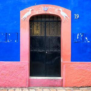 ¡Viva Mexico! Square Collection - 19rd Blue Wall by Philippe Hugonnard