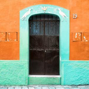 ¡Viva Mexico! Square Collection - 19rd Orange Wall by Philippe Hugonnard
