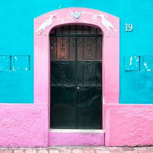 ¡Viva Mexico! Square Collection - 19rd Turquoise Wall by Philippe Hugonnard