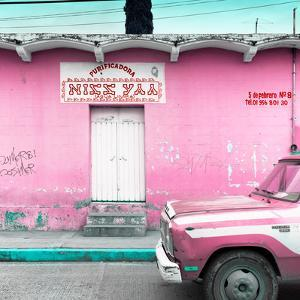"""¡Viva Mexico! Square Collection - """"5 de febrero"""" Pink Wall by Philippe Hugonnard"""