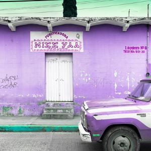 """¡Viva Mexico! Square Collection - """"5 de febrero"""" Purple Wall by Philippe Hugonnard"""