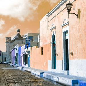 ¡Viva Mexico! Square Collection - Beautiful Colorful Street in Campeche IV by Philippe Hugonnard