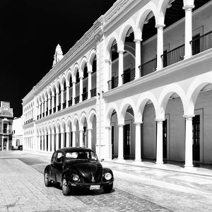 ¡Viva Mexico! Square Collection - Black VW Beetle in Campeche III by Philippe Hugonnard