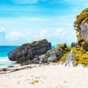 ¡Viva Mexico! Square Collection - Caribbean Coastline in Tulum II by Philippe Hugonnard