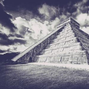 ¡Viva Mexico! Square Collection - Chichen Itza Pyramid XIII by Philippe Hugonnard