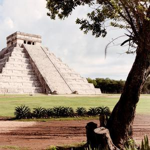 ¡Viva Mexico! Square Collection - Chichen Itza Pyramid by Philippe Hugonnard