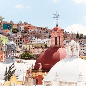 ¡Viva Mexico! Square Collection - Church Domes II - Guanajuato by Philippe Hugonnard