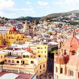 ¡Viva Mexico! Square Collection - Church Domes in Guanajuato III by Philippe Hugonnard