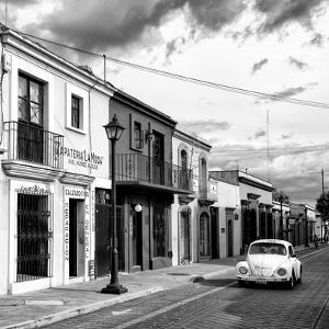 ?Viva Mexico! Square Collection - Colorful Facades and White VW Beetle Car V by Philippe Hugonnard