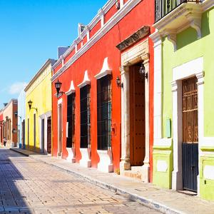 ¡Viva Mexico! Square Collection - Colorful Street - Campeche by Philippe Hugonnard