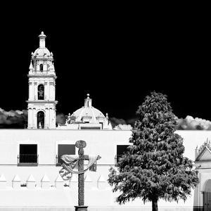 ¡Viva Mexico! Square Collection - Courtyard of a Church in Puebla III by Philippe Hugonnard