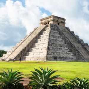 ¡Viva Mexico! Square Collection - El Castillo Pyramid - Chichen Itza III by Philippe Hugonnard