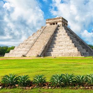 ?Viva Mexico! Square Collection - El Castillo Pyramid - Chichen Itza VIII by Philippe Hugonnard