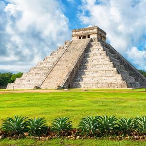 ?Viva Mexico! Square Collection - El Castillo Pyramid - Chichen Itza VIII by Philippe Hugonnard