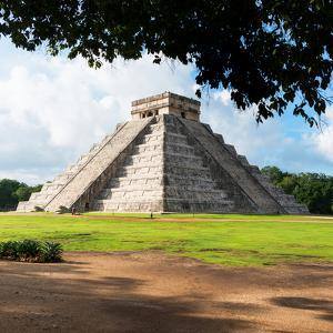 ¡Viva Mexico! Square Collection - El Castillo Pyramid in Chichen Itza IX by Philippe Hugonnard
