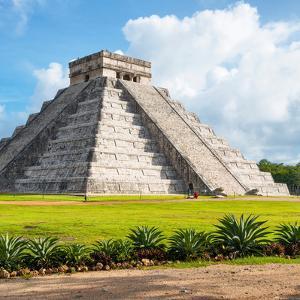¡Viva Mexico! Square Collection - El Castillo Pyramid in Chichen Itza V by Philippe Hugonnard