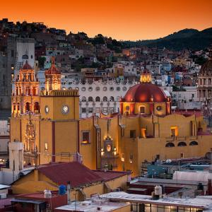 ¡Viva Mexico! Square Collection - Guanajuato at Sunset III by Philippe Hugonnard