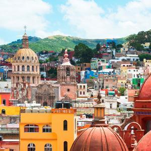 ¡Viva Mexico! Square Collection - Guanajuato Church Domes I by Philippe Hugonnard